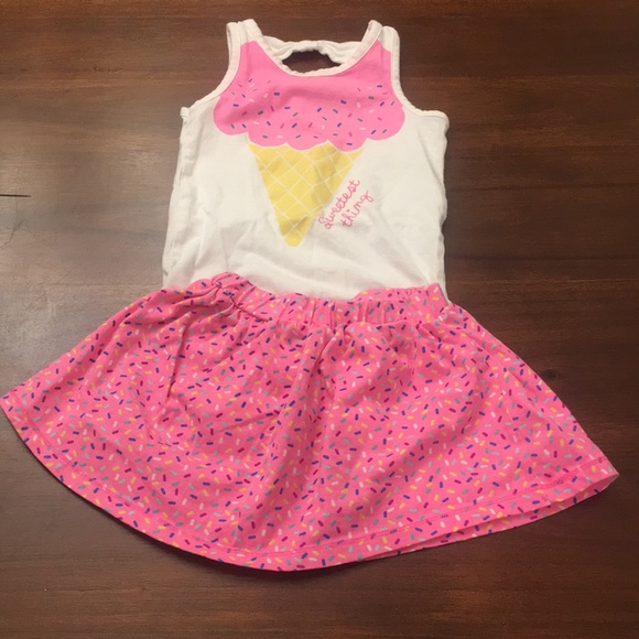 752bb729 Koala Kids Matching Sets | Ice Cream Sprinkle Onesie And Skirt With ...